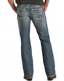 "Rock & Roll Cowboy Pistol ""V"" Pocket Light Wash Jeans"