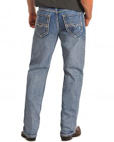 "Rock & Roll Cowboy Cannon Abstract ""V"" Pocket Jeans"