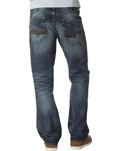 Silver Jeans Men's Zac Relaxed Fit Straight Leg Medium Wash Jeans