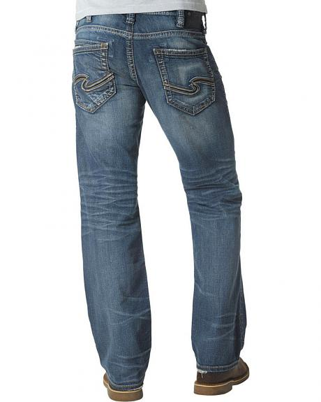 Silver Jeans Men's Zac Relaxed Fit Straight Leg Jeans