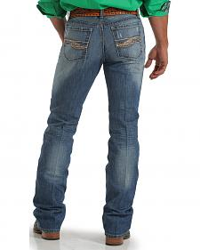 Cinch Men's Ian Slim Bootcut Medium Stonewash Jeans
