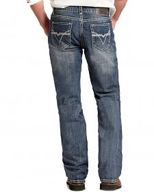 Rock and Roll Cowboy Double Barrel Relaxed Fit Medium Wash Jeans - Straight Leg