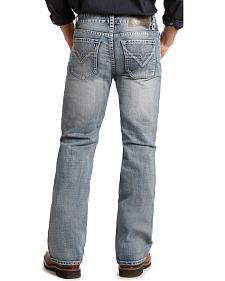 "Rock and Roll Cowboy Double Barrel ""V"" Relaxed Fit Jeans - Straight Leg"