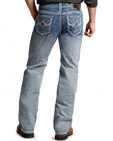 Rock and Roll Cowboy Double Barrel Relaxed Fit Light Wash Jeans - Straight Leg