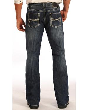 Rock and Roll Cowboy Pistol Dark Wash Jeans - Boot Cut
