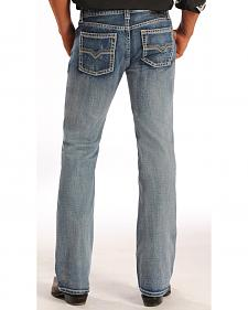 "Rock and Roll Cowboy Pistol Simple ""V"" Jeans - Straight Leg"