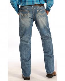 Rock and Roll Cowboy Tuf Cooper Competition Fit Light Wash Jeans