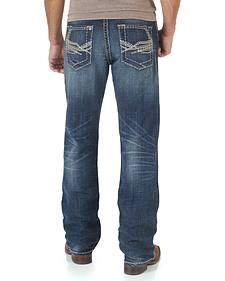 Wrangler Rock 47 Men's Mash Up Boot Cut Jeans - Slim Fit