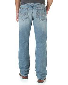 Wrangler Rock 47 Men's Grunge Boot Cut Jeans - Slim Fit