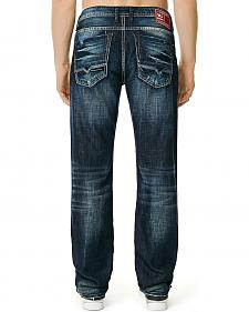 "Buffalo Men's Six-X Straight Leg Jeans - 34"" Inseam"