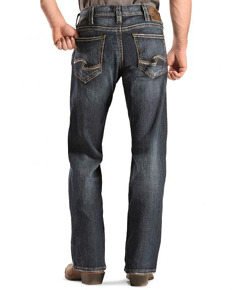 Silver Men's Zac Dark Wash Jeans - Relaxed Fit