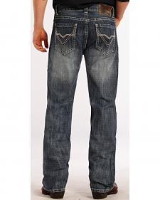 Rock and Roll Cowboy Double Barrel Relaxed Fit ZigZag Jeans - Straight Leg