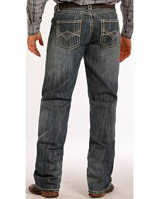 Tuf Cooper Performance Competition Fit Medium Wash Diamond Jeans - Straight Leg