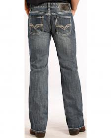 Rock and Roll Cowboy Pistol Fit Double V Jeans - Straight Leg