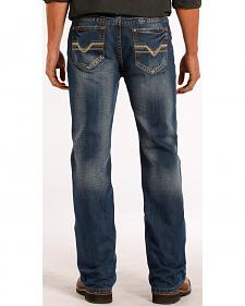 Rock and Roll Cowboy Double Barrel Relaxed Fit Dark Vintage Jeans - Straight Leg