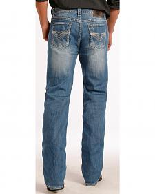 Rock and Roll Cowboy Double Barrel Relaxed Fit Heavy V Jeans - Straight Leg