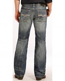 Rock and Roll Cowboy Pistol Fit Flat Seam Jeans - Straight Leg