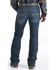 Cinch Men's Ian Dark Stonewash Slim Fit Jeans - Boot Cut