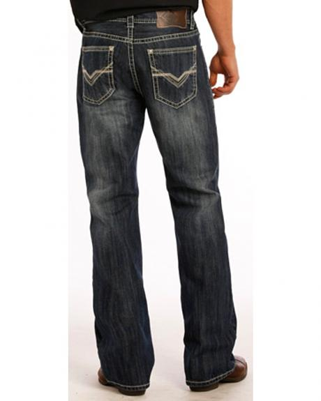 Rock and Roll Cowboy Double Barrel Running V Jeans - Boot Cut