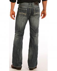 Rock and Roll Cowboy Pistol Flat Seam Detail Jeans - Boot Cut