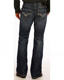 "Rock and Roll Cowboy Dark Wash ""V"" Pistol Jeans - Boot Cut"