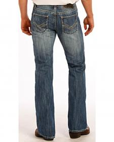 "Rock and Roll Cowboy Raised Denim ""V"" Pistol Jeans - Boot Cut"