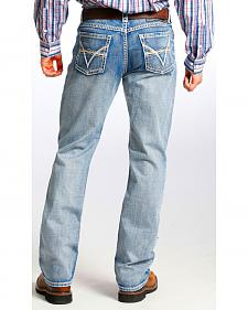Tuf Cooper Men's Competition Fit Light Wash Straight Jeans