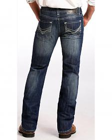 Rock and Roll Cowboy Men's Dark Vintage Pistol Bootcut Jeans