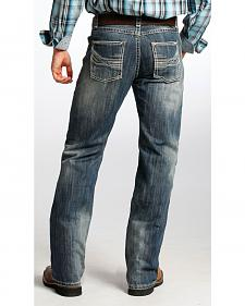 Tuf Cooper Men's Competition Fit Dark Vintage Wash Straight Jeans