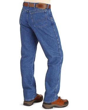 "Wrangler Jeans - Rugged Wear Relaxed Fit Stretch - Big 44"" to 54"" Waist"