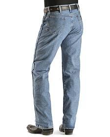 "Wrangler Jeans - 13MWZ Original Fit Premium Wash - 38"" Tall Inseam"