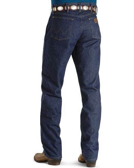 Wrangler Jeans - 47MWZ Original Fit Prewashed Indigo - In 38