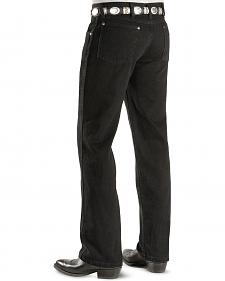 "Wrangler Jeans - Cowboy Cut 36 MWZ Slim Fit Black - 38"" Tall Inseams"