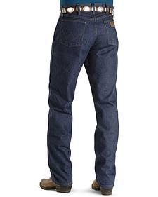 "Wrangler Jeans - 47MWZ Original Fit Prewashed Indigo - 44"" to 50"" Waist"