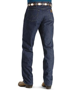 "Wrangler Jeans - 47MWZ Original Fit Prewashed Indigo - 44"" to 50"" Waist"
