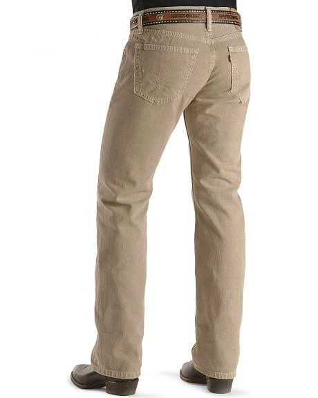 Levis  505  Straight Fit Sand Jeans - Tall