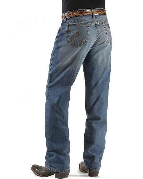 Wrangler 20X 01 Competition Vintage Stone Wash Jeans - Tall