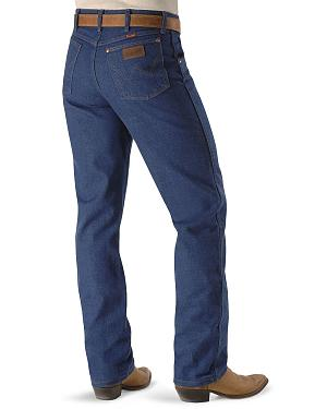 "Wrangler Jeans - 31MWZ Relaxed Fit Prewashed Denim - 38"" Tall Inseam"