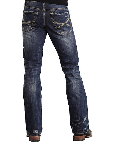 Stetson Rock Fit X Stitched Jeans Big & Tall Western & Country 11-004-1014-3000 BU_T