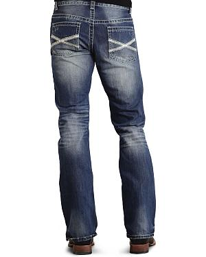 Stetson Rock Fit Bold X Stitched Jeans - Big & Tall