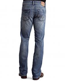 Stetson Rock Fit Frayed X Stitched Jeans - Big & Tall