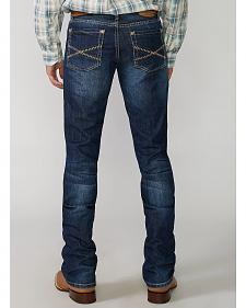 "Stetson Rock Fit Barbwire ""X"" Stitched Jeans - Big & Tall"