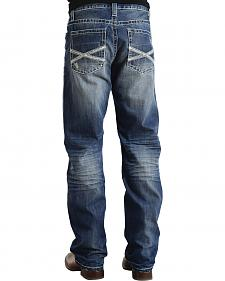 "Stetson Modern Fit Frayed ""X"" Stitched Jeans - Big & Tall"