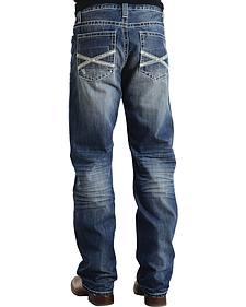 "Stetson Modern Fit Frayed ""X"" Stitched Jeans - Big & Tall"