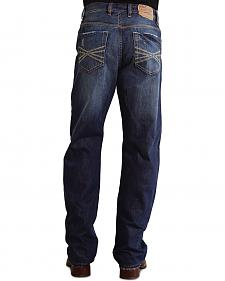 """Stetson 1520 Fit Contrasting """"X"""" Stitched Jeans - Big & Tall"""