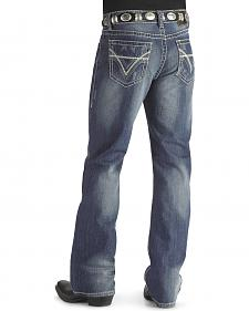 Rock & Roll Cowboy Heavy Bean Stitch V Double Barrel Jeans - Big & Tall