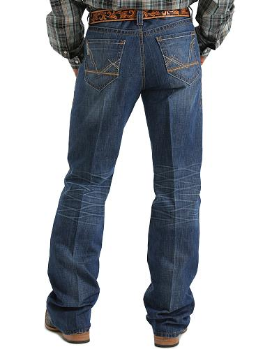"Cinch  Grant ""V"" with Horizontal Stitching Medium Wash Jeans Big & Tall Western & Country MB71637001 IND_T"