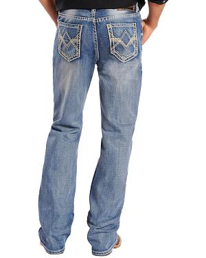 "Rock & Roll Cowboy Double Barrel Abstract ""V"" Pocket Jeans - Tall"