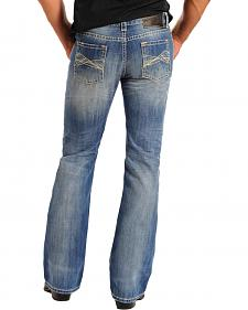Rock & Roll Cowboy Men's Pistol Regular Fit Embroidered Bootcut Jeans - Tall