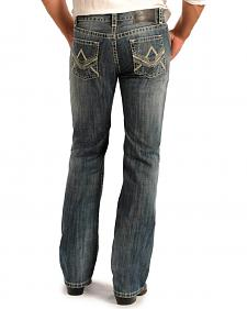 Rock & Roll Cowboy Men's Pistol Regular Fit Straight Leg Jeans - Tall